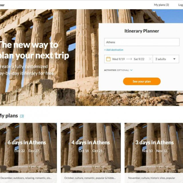 Travel to Athens Trip Planner